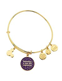 Disney Parks Alex and Ani 'Believing Is Just The Beginning' Charm Bangle Bracelet