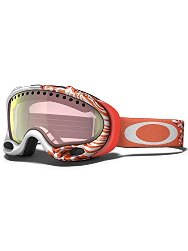 Oakley A-Frame Snow Goggle, Huntress White with VR50 Pink Iridium - Frame White A Oakley