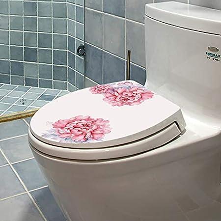 3204 Delidraw Motif Toilette Couvercle /Étiquette Mer Monde//Fleur Housse Imperm/éable Cuvette de WC Stickers Salle de Bain D/écoration