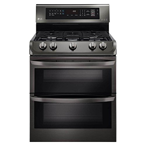 LG LDG4313BD 30″ Black Stainless Steel Series Gas Freestanding Range with 5 Burners, Sealed Burner Cooktop, None Drawer, 4.3 Cu. Ft. Primary Oven Capacity, in Black Stainless Steel