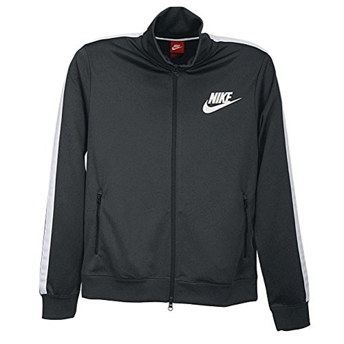 Nike Boys Futura Athletic Track/Warmup Jacket Anthracite/White/Black (Nike Tennis Warm Up Pant)