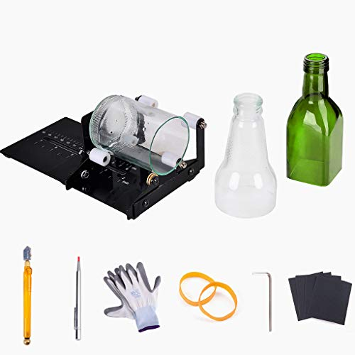 IMT Professional Bottle Cutter, Glass Cutter Wine Bottle Cutting Tool Kit for Square/Round Bottles, DIY Crafting Machine