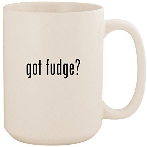 Sugar Free Chocolate Walnut - got fudge? - White 15oz Ceramic Coffee Mug Cup