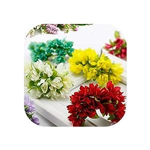 UNstars Artificial Flowers 12 Pcs/Lot Silk Cherry Blossoms Poppy Bouquet Wedding Decoration Mini Flowers 32