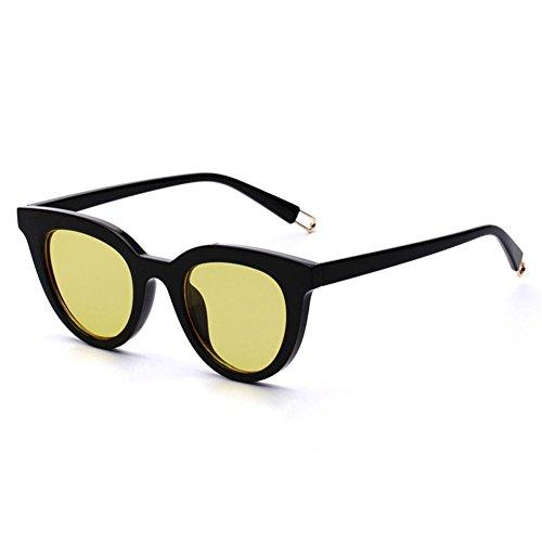de Sol Gafas Cara Gafas de Vintage Redonda Ojo de Gato 3 DT largas Mujer Gafas Mujeres Sol Color de Sol wpq5x4xf