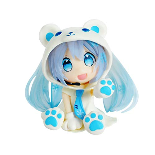 (Kaiyu Hatsune Figures, Cute Ornaments, Mini Cute Figure - Blue)