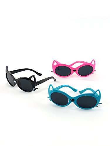 Three Pairs of Cat Sunglasses   Fits 18 American Girl Dolls, Madame Alexander, Our Generation, etc.   18 Inch Doll Accessories