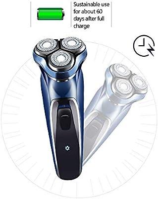 Afeitadora Eléctrica Rotativa para Hombre, Máquina de Afeitar ...