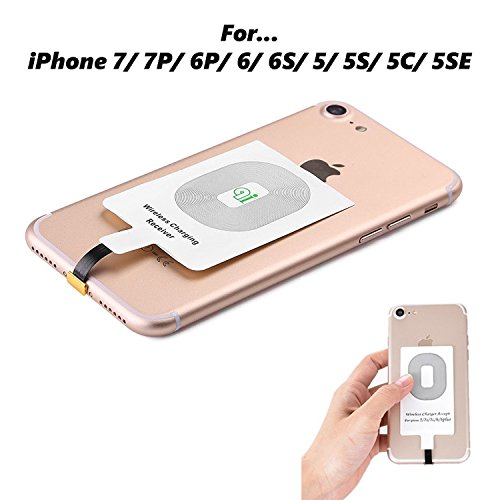 Cheap Charging Stations Qi iPhone Receiver WADJET Qi Wireless Charger, Fast Speed Charging Receiver for..