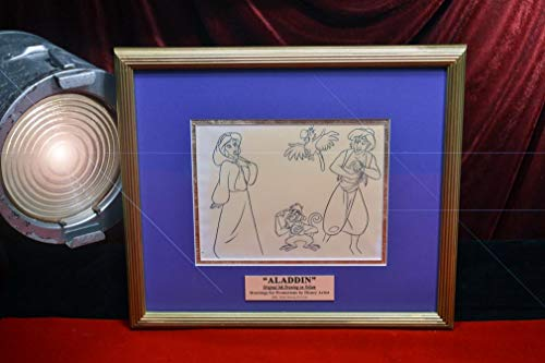 Rare ALADDIN Disney Original 1992 Animation ART, Frame, UACC COA, Blu DVD, Comic
