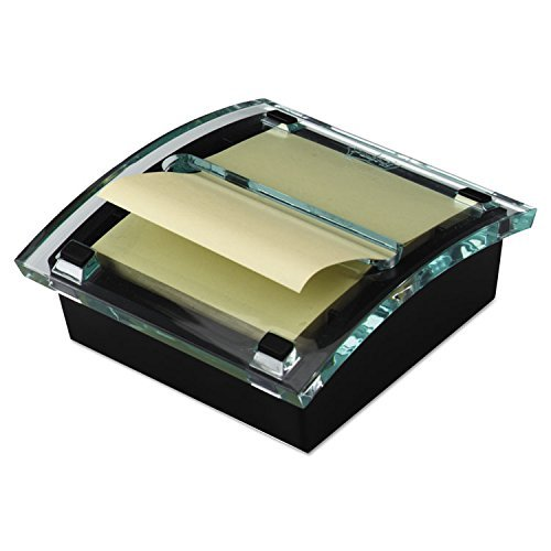 Post-it DS330BK Pop-Up Note Dispenser, 3''x3'' Notes, 50Sht/PD, Black/Clear by 3M