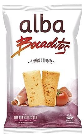 Alba - Bocaditos Jamón Y Tomate Bolsa 110 g: Amazon.es: Alimentación y bebidas