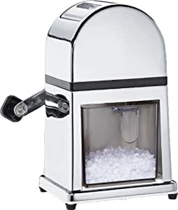 Cilio Deluxe Ice Crusher with Removable Drawer and Ice Scoop