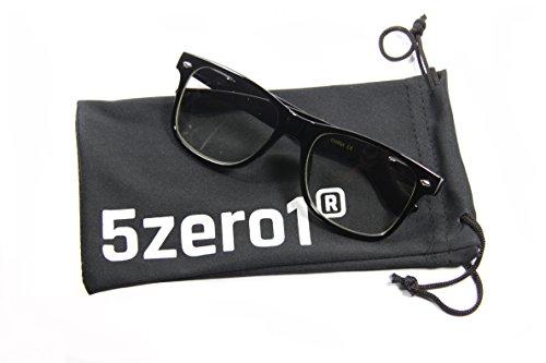 5Zero1 Kids Children Wayfarer Spring Hinge Fashion Clear Lens Cute Lead Free - Glasses Cute Are