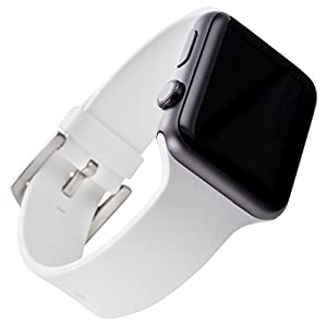 WITHit Apple Watch Silicone Replacement Band (White 42mm)
