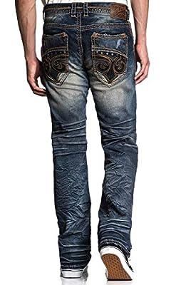 Affliction Blake Fleur Rogue Relaxed Straight Leg Denim Jeans for Men