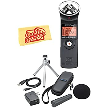 Zoom H1 Handy Recorder Bundle with Zoom APH-1 Accessory Pack and Austin Bazaar Polishing Cloth