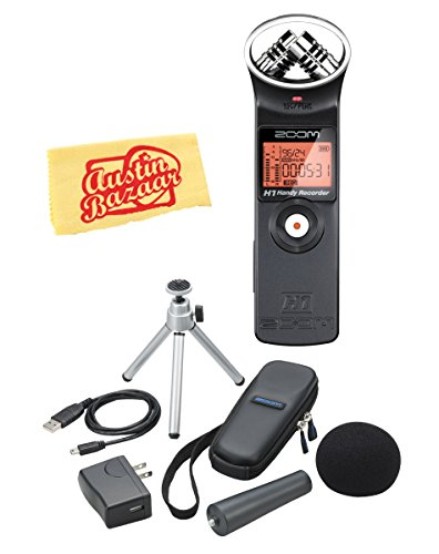 Price comparison product image Zoom H1 Handy Recorder Bundle with APH-1 Accessory Pack,  Polishing Cloth