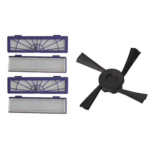 Tiean 4PC Filter + 1PC Side Brushes Replacement