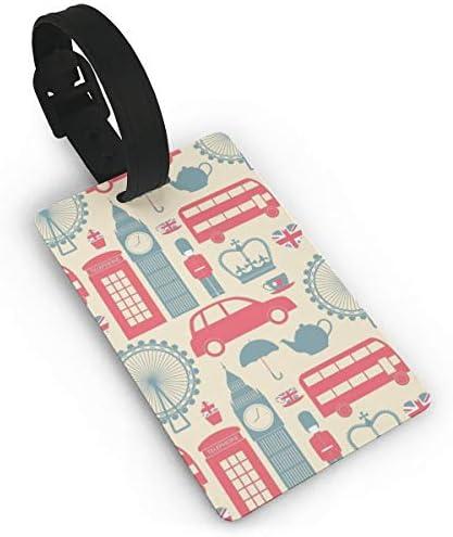 イギリス文化ロンドンのシンボル ラゲージタグ 旅行荷物タグ 便利グッズ PVC 出張用タグ 番号札 旅行用品 紛失防止 軽量 カバン装飾 便利
