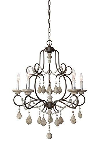 Creative co op da5573 chateau iron wood crystal beads chandelier creative co op da5573 chateau iron wood crystal beads chandelier by creative co aloadofball Choice Image