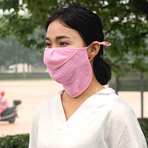 Fainosmny Anti-dust Reusable Cotton Mouth Face Masks Mouth Cover for Man and Woman Face Mask Pink