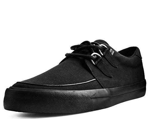 (T.U.K. Shoes A9486 Unisex-Adult Sneakers, Slip Resistant Work Shoes, Black Basic Twill D-Ring VLK Sneaker - US: Mens 7 / Womens 9 / Black/Fabric)