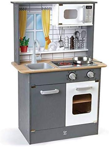 Hape E3166 - Cocina de juguete infantil (madera, con luz, sonido y ...