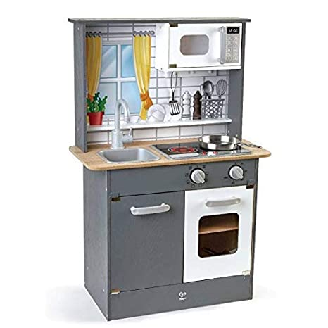 Hape E3166 - Cocina de juguete infantil (madera, con luz ...
