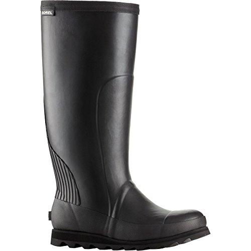 SOREL Women's Joan Tall Rain Boot, Black, Sea Salt, 7 Medium US by SOREL