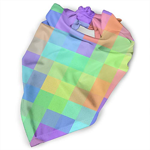 Pet Scarf Dog Bandana Bibs Triangle Head Scarfs Pastel Rainbow Colorful Accessories for Cats Baby Puppy