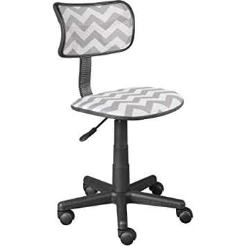 Urban Shop Swivel Mesh Chair Grey Chevron