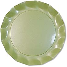 Sophistiplate 43Pe2 Petalo Paper Salad/Dessert Plates, Pack Of 20, Pearly Green