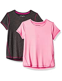 Amazon Essentials Girls' 2-Pack Short-Sleeve Active Tee