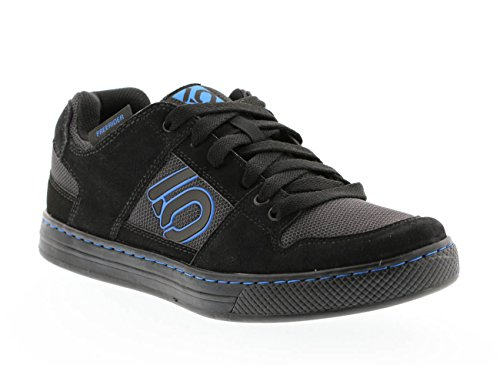 Five Ten Freerider Men's Flat Pedal Shoe: Black Shock Blue 9