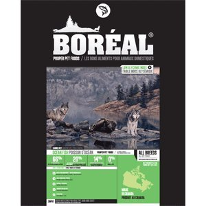 well-wreapped Boreal Grain Free Fish Dog Food 25lb