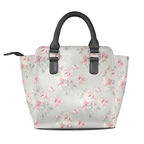 Women's Bags Leather Shoulder Flower Tote TIZORAX Retro Flower Leather Handbags Tote Women's Retro TIZORAX RwadfRq