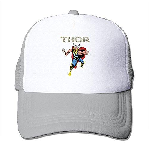 Cool Thor Trucker Cap Baseball Hat (5 Colors) Ash (Thor Flat Bill Hats)