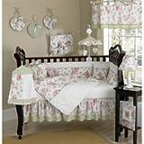 Sweet Jojo Designs 4-Piece Riley's Roses Chenille Floral Children's Bedding Girls Twin Set