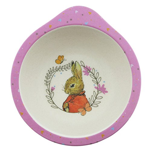 Beatrix Potter Peter Rabbit Featuring Flopsy Organic Bowl made from Bamboo Height: 5.0cm Width: 12.5cm Depth: 12.5cm ()
