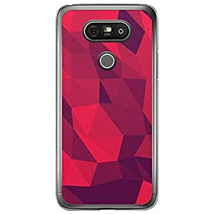 Loud Universe LG G5 Geometrical Printing Files A Geo 5 Printed Transparent Edge Case - Red