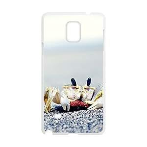 Cute Beach Crab White Phone For SamSung Galaxy S5 Mini Case Cover