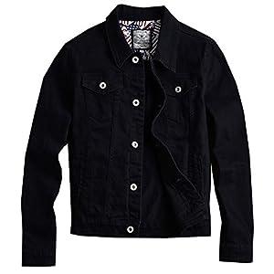 Men Denim Jacket Casual Slim Fit Button Down Biker Jeans