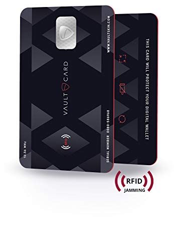 VAULTCARD - RFID Blocking & Jamming Credit & Debit Card Protection for Your Wallet and Passport/NFC Jamming Card, Protects Several Cards at The Same time (The Best Debit Card)