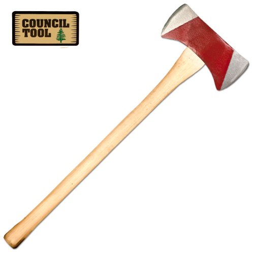 Council Tool 3.5 lb Michigan Pattern Double Bit Axe with 36 Inch Straight Wooden Handle