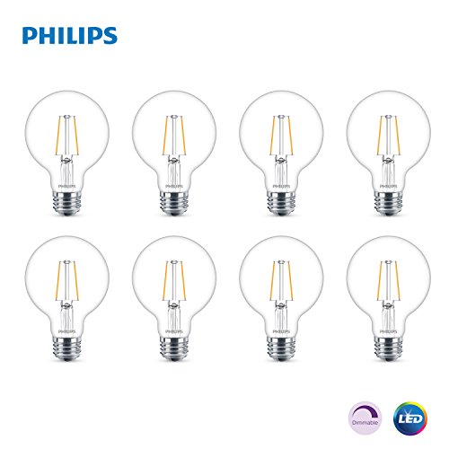 Philips LED Dimmable G25 Light Bulb, 180-Lumen, 2700-Kelvin,