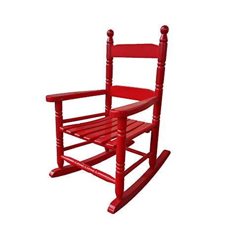 rockingrocker - K10RD Red Child's Rocking Chair/Porch Rocker - Indoor or Outdoor - Suitable for 1 to 4 Years Old