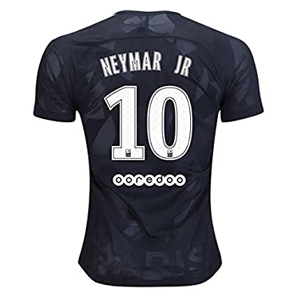 6c8819b4d Amazon.com : S_C_Z Neymar Jr 10 PSG Third 17/18 Soccer Jersey Mens Color  Black Size S : Sports & Outdoors