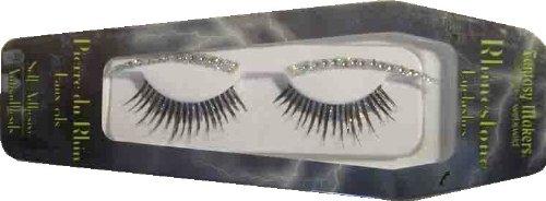 Fantasy Makers Eyelashes Wet N Wild Silver Hologram Eye Lashes with Rhinestone Liners - 11105/11163