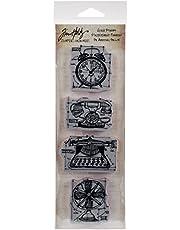 "Tim Holtz Mini Blueprints Strip Cling Stamps 3""X10""-Vintage (Pack of 1)"